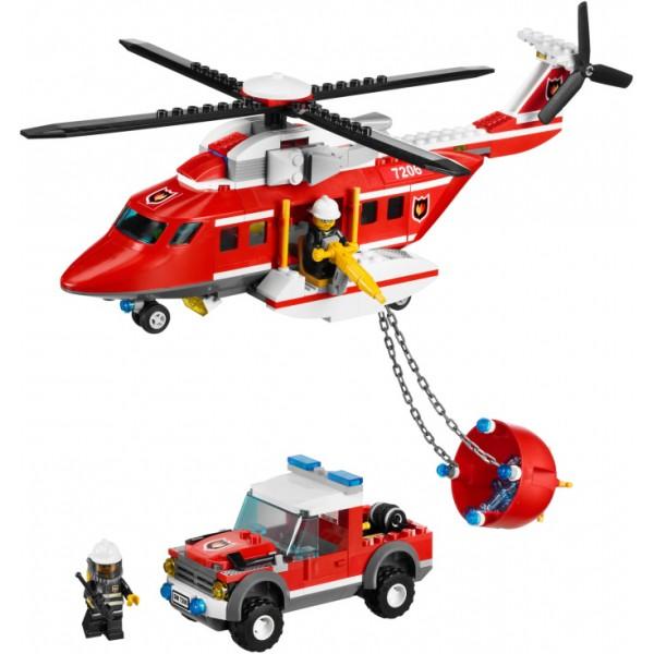Klocki Lego City Helikopter Straży Pożarnej 7206 Leg7206 Gugu Zabawki