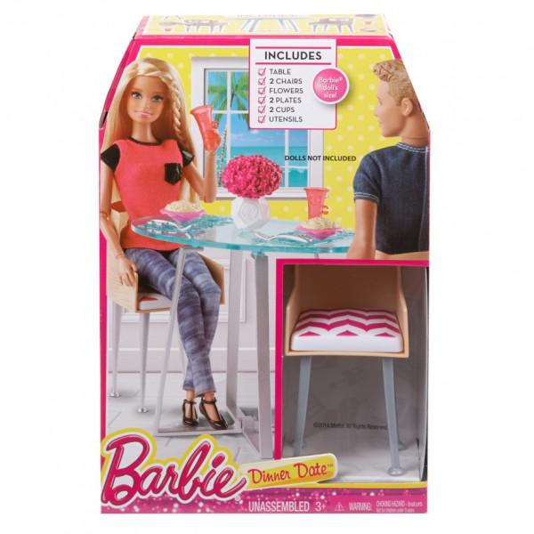 Mattel Barbie Meblelki Jadalnia Cfg65 Cgm01 Cfg65 Cgm01 Gugu Zabawki