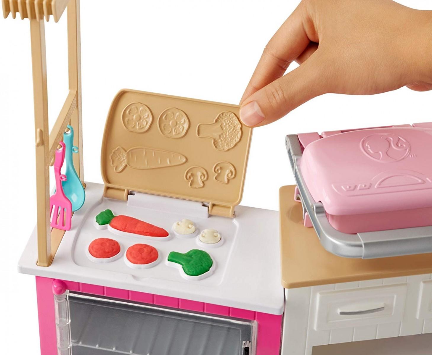 Mattel Barbie Idealna Kuchnia Zestaw Z Lalką Frh73