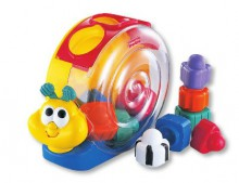 Fisher Price Brilliant Basics Ślimak Smakosz Klocków 71922