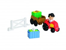 Fisher Price Little People Traktor z Przyczepą Y8202 Y8201