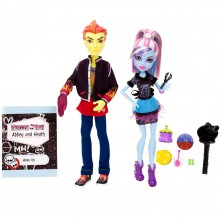 Mattel Monster High Upiorne Lekcje Heath Burns & Abbey Bominable BBC80 BBC82
