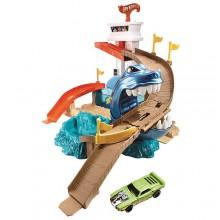 Mattel Hot Wheels Zestaw Zmieniający Kolor Sharkport Starcie z Rekinem BGK04