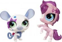 Hasbro Littlest Pet Shop Uzdolnione Zwierzaki Myszka i Konik 99960 99962