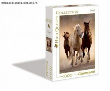 Clementoni Puzzle High Quality Collection Running Horses 1000 Elementów 39168