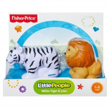 Fisher Price Little People Zwierzaki Tropikalne Biały Tygrys i Lew BGC53