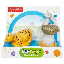 Fisher Price Little People Zwierzaki Tropikalne Struś i Gepard BGC53