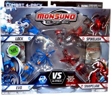 Mattel Monsuno Kapsuła 4-Pak Core-Tech vs. Eklipse Y8049 24980