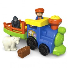 Fisher Price Little People Pociąg ze Zwierzakami DKJ22