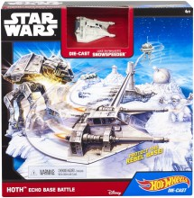 Mattel Hot Wheels Star Wars Hoth Echo Base Battle CGN33 CGN34