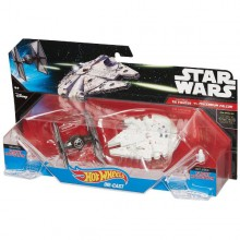 Mattel Hot Wheels Star Wars Statek Kosmiczny Dwupak Tie Fighter & Millennium Falcon CGW90 CGW95