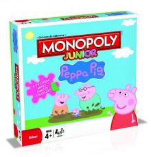 Winning Moves Gra Monopoly Junior Świnka Peppa 27601