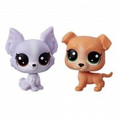 Hasbro Littlest Pet Shop Mini 2 Pack Frilly Lepapillon+Pitley Bullbury B9389 C3008