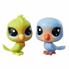 Hasbro Littlest Pet Shop Mini 2 Pack Lolly Lovington+Leo Lovefeather B9389 C3009