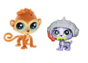 Hasbro Littlest Pet Shop Zwierzaki z Akcesoriami Cheep Cheep Chipman+Luke Yorkshire A7313 B3545