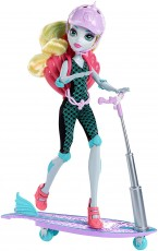Mattel Monster High Surf-To-Turf Hulajnoga Lagoona Blue DNX04 DNX06