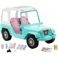 Mattel Barbie Auto Jeep Pink Passport FNY30