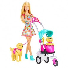 Mattel Barbie Spacer z Pieskami CNB21