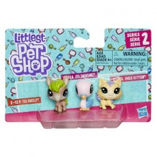 Hasbro Littlest Pet Shop Figurka Mini 3-pak Tex Horsely+Aya Swansong+Amber Kittyson E0214 E0457
