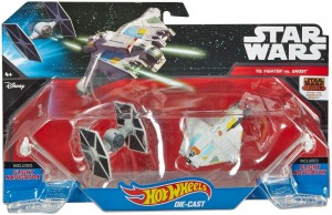 Mattel Hot Wheels Star Wars Statek Kosmiczny Dwupak Tie Fighter & Ghost CGW90 DLP58