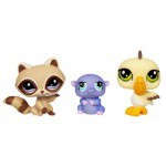 Hasbro Littlest Pet Shop Trzy Zwierzątka Chomik, Pelikan, Borsuk 93664 93669