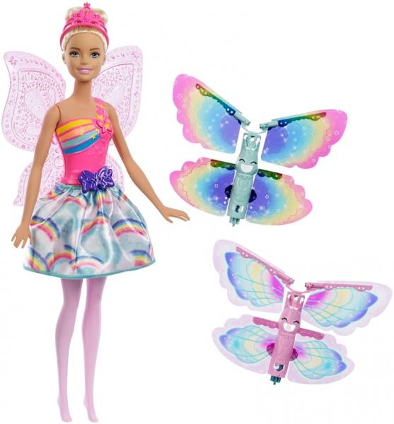 Mattel Barbie Wróżka Latające Skrzydełka FRB08